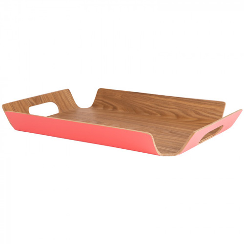 Navigate Summerhouse Willow Tray Large Coral